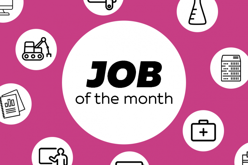 Job of the month infographic