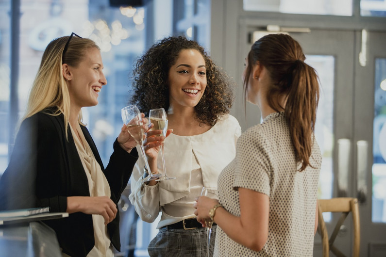 Women networking