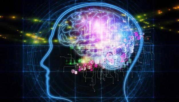 A thinking brain