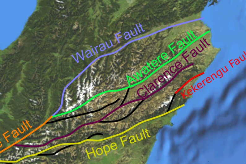 Map of Marlborough fault system