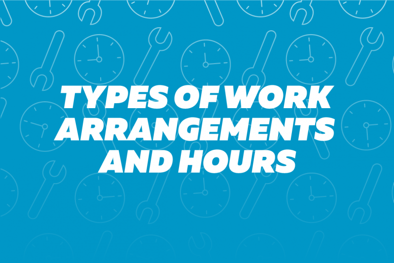 2oa5 Types of work arrangements and hours