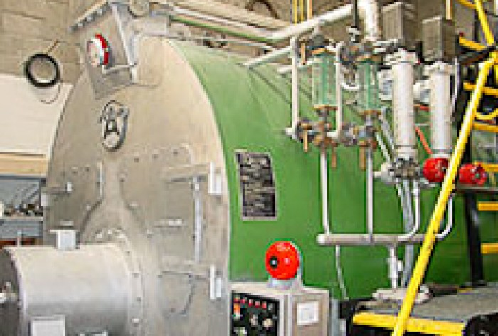 A large industrial boiler