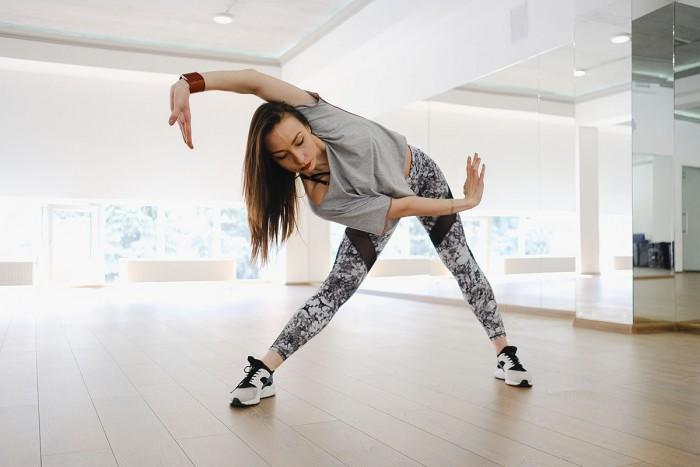 Dancer rehearsing a routine