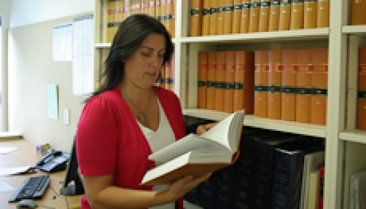 Phena Byrne consults a law journal