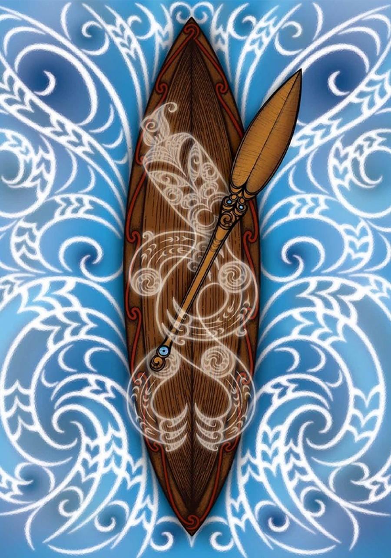 Pikitia auaha o tētahi waka Māori