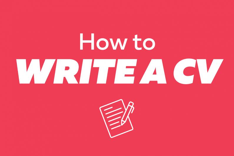 write CV