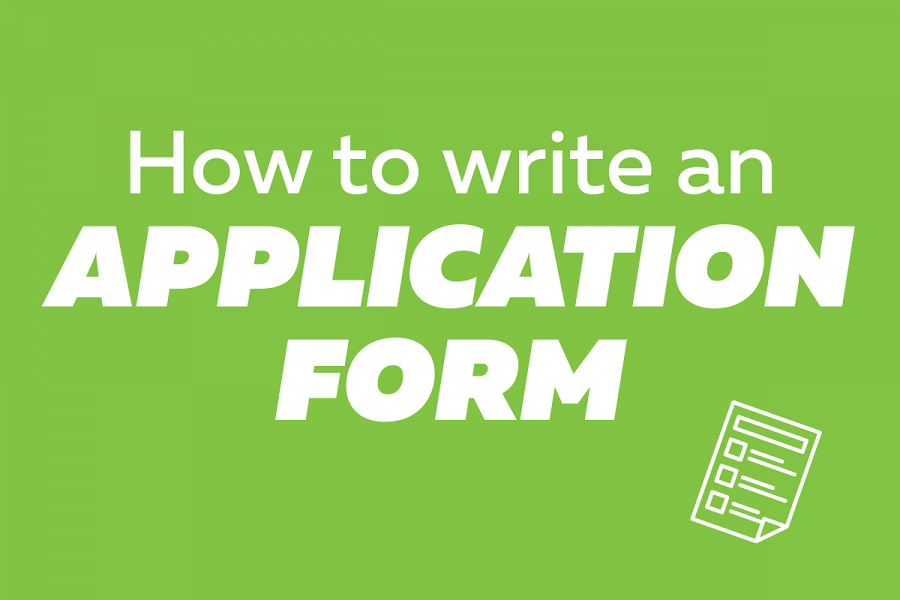 How to write an application form