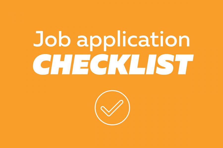 Job application checklist