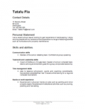 Image Of Functional CV
