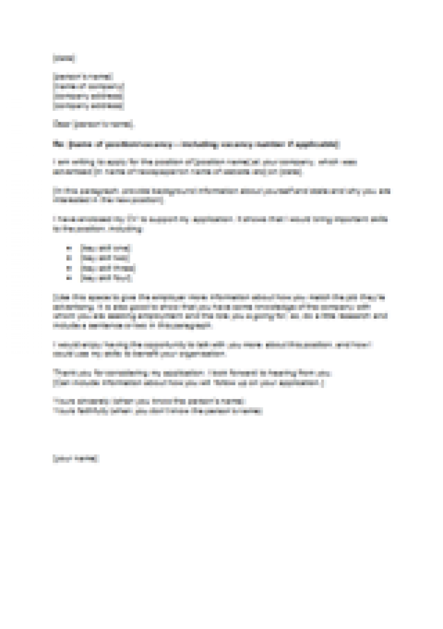 Cover Letter For Vodafone Job Cover Letter Templates – Nz Cover Letter